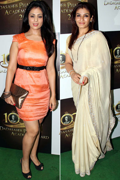 Raveena Tandon and Anjana Sukhani