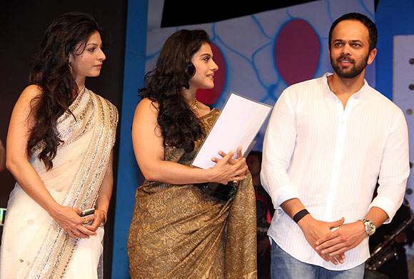 Tanisha, Kajol and Rohit Shetty