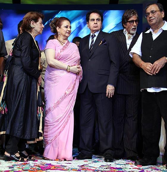 Saira Banu, Dilip Kumar, Amitabh Bachchan and Subhash Ghai