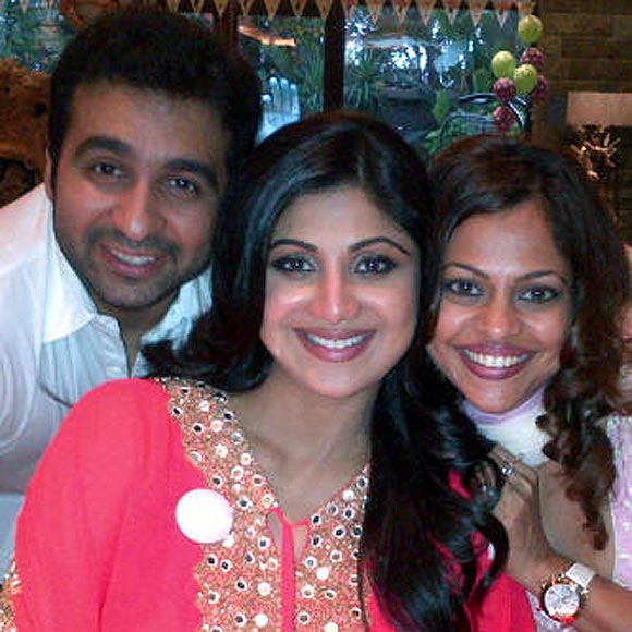 Raj Kundra, Shilpa Shetty and Sarita