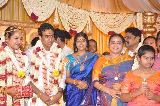 Sitara with the newlyweds