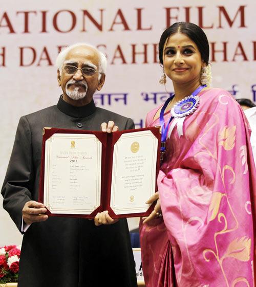 Hamid Ansari and Vidya Balan