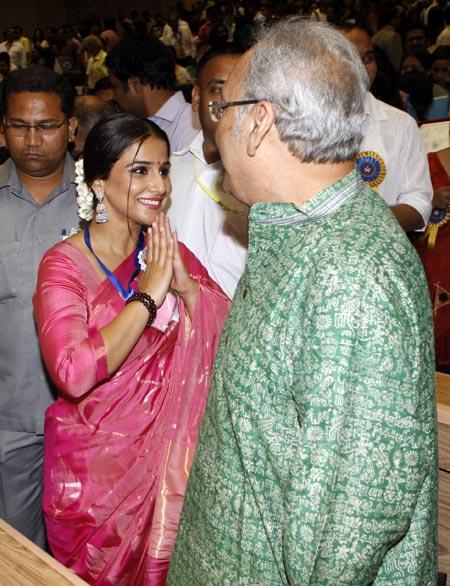 Vidya Balan and Soumitra Chatterjee