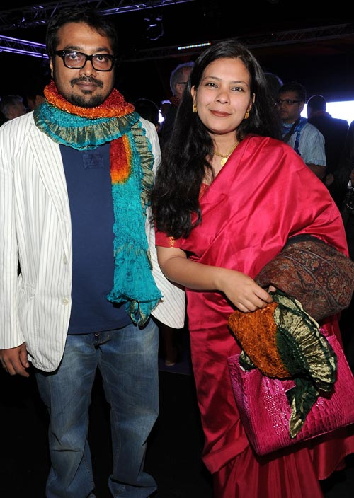 Anurag Kashyap and director Anusha Rizvi at the 64th Annual Cannes Film Festival