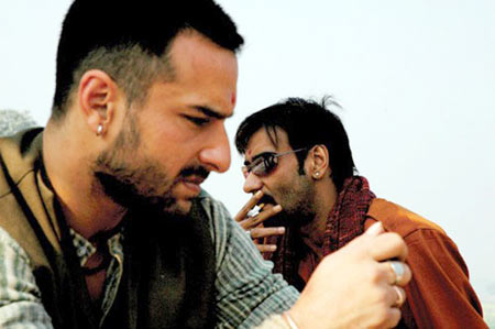 Saif Ali Khan and Ajay Devgn in Omkara