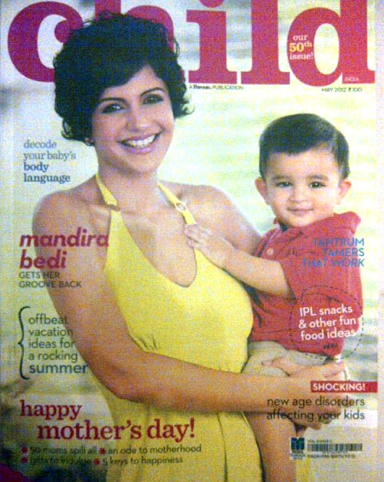 Mandira Bedi with her son Vir