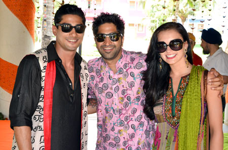 Prateik, Harmeet Sethi and Amy Jackson