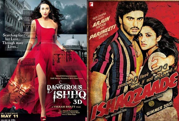 Movie posters of Dangerous Ishhq and Ishaqzaade