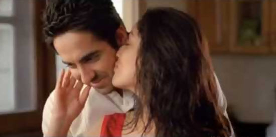 Ayushmann Khurrana and Yami Gautam in Vicky Donor