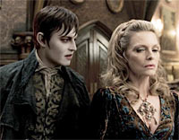 Johnny Depp and Michelle Pfeiffer in Dark Shadows