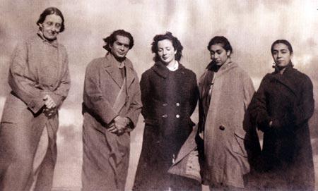 Alice bonner, Uday Shankar, Beatrice, Uzra (Zohra's sister), Zohra Segal, Dartmoor, Devon