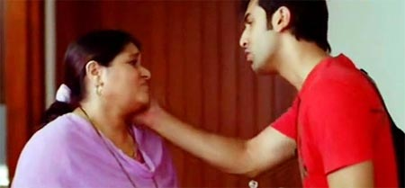 Supriya Pathak and Ranbir Kapoor in Wake Up Sid