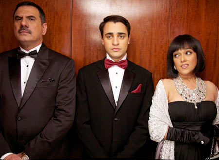 Boman Irani, Imran Khan and Ratna Pathak Shah in Ek Main Hoon Aur Ekk Tu