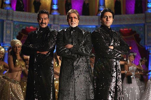 Ajay Devgn, Amitabh Bachchan and Abhishek Bachchan