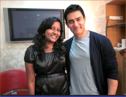 Cindrella Prakash and Aamir Khan