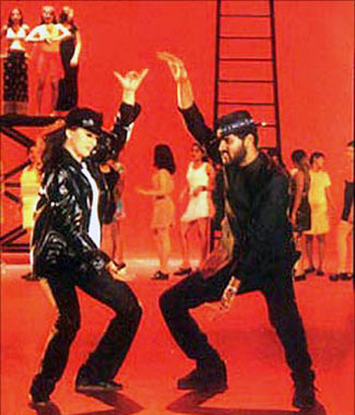 Madhuri Dixit and Prabhudeva in Pukar