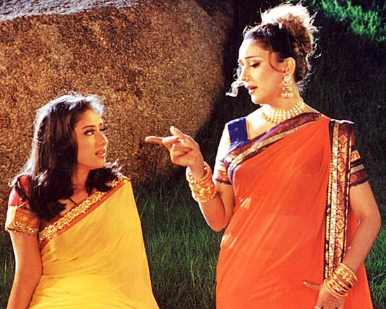 Manisha Koirala and Madhuri Dixit in Lajja
