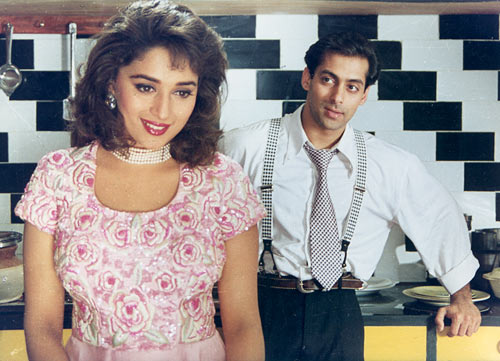 Madhuri Dixit and Salman Khan in Hum Aapke Hain Koun ...!