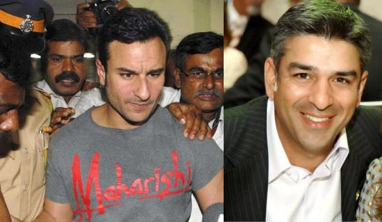 Saif Ali Khan and Iqbal Sharma