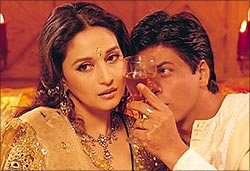 Madhuri Dixit and Shah Rukh Khan in Devdas