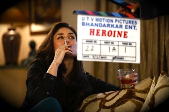 Kareena Kapoor on the sets of Heroine