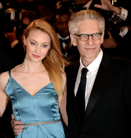David Cronenberg and Sarah Gadon