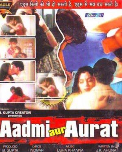 Movie poster of Aadmi Aur Aurat