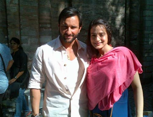 Saif Ali Khan and Ameesha Patel