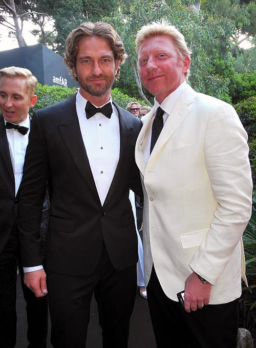 Gerard Butler and Boris Becker