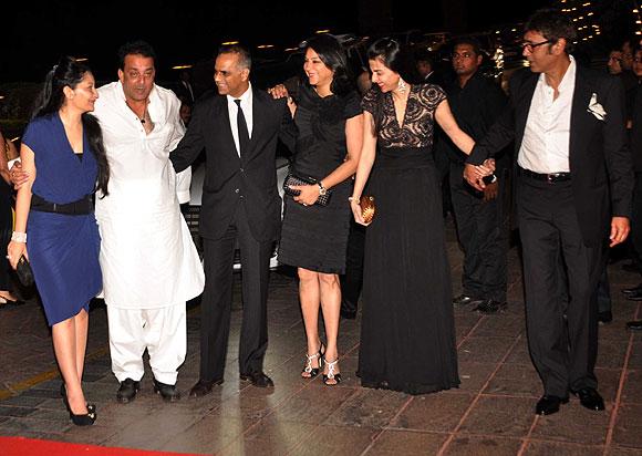 Manyata Dutt, Sanjay Dutt, Owen Roncon, Priya Dutt,  Namrata Dutt and Kumar Gaurav