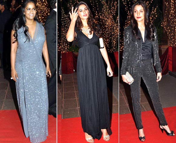Arpita Khan, Nargis Fakhri and Anushka Sharma