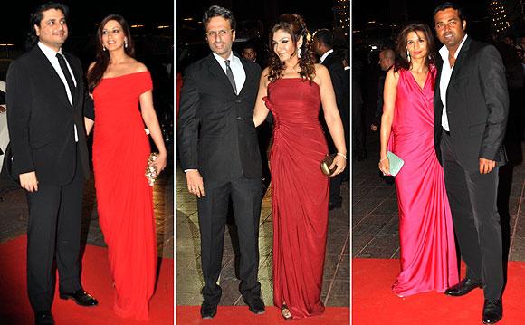 Raveena Tandon, Anil Thadani, Sonali Bendre,  Golide Behl, Leander Paes and Rhea Pillai