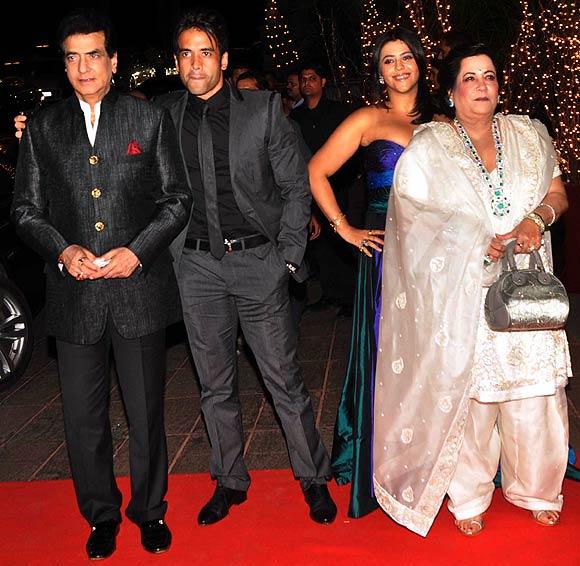 Jeetendra, Tusshar Kapoor, Ekta Kapoor and Shobha Kapoor