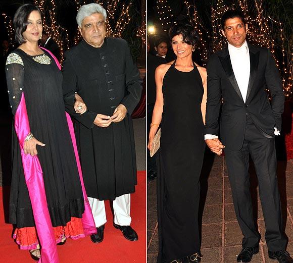 Javed Akhtar, Shabana Azmi, Farhan Akhtar and Adhuna Akhtar