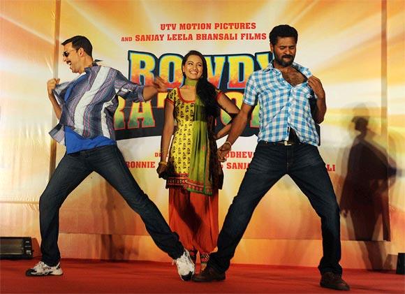 Akshay Kumar, Sonakshi Sinha and Prabhu Deva