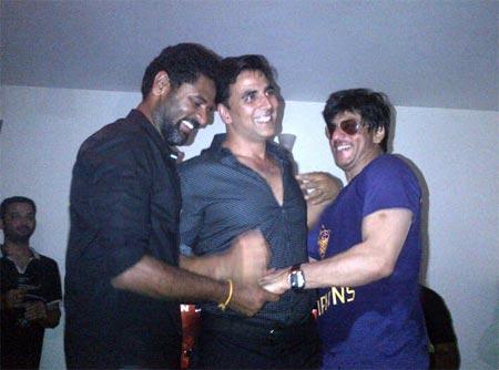 Prabhu Deva, Akshay Kumar and Shah Rukh Khan