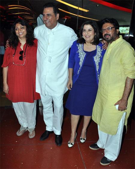 Bela Sehgal Bhansali, Boman Irani, Farah Khan and Sanjay Leela Bhansali