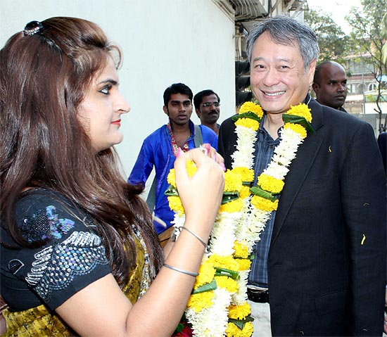 Ang Lee greeted his Indian fans with a Namaste in his recent visit
