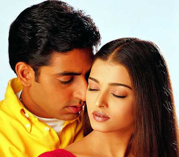 Abhishek Bachchan and Aishwariya Rai Bachchan in Dhaai Akshar Prem Ke