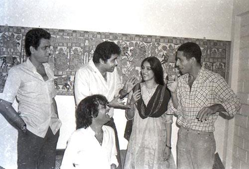 Om Puri, Satish Shah, Neena Gupta, Naseeruddin Shah and Ravi Baswami
