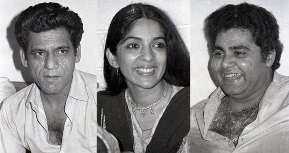 Om Puri, Neena Gupta and Satish Shah
