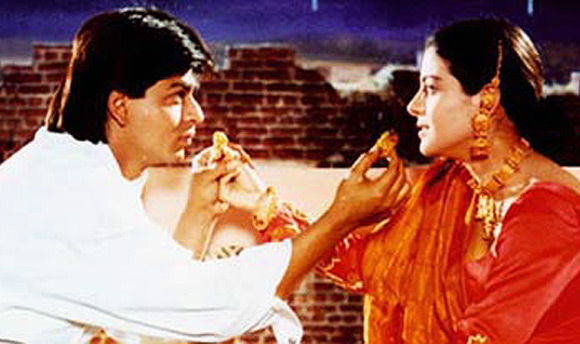Shah Rukh Khan and Kajol in Dilwale Dulhania Le Jayenge