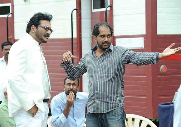 Milind Gunaji with director Krish