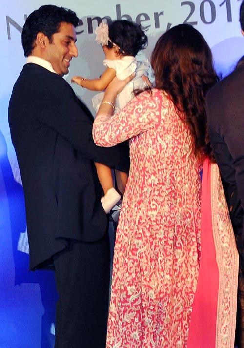 Abhishek, Aaradhya and Ash