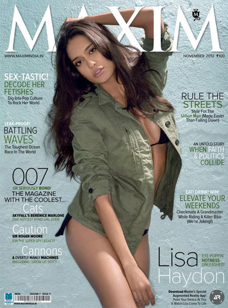 Lisa Haydon on Maxim Cover