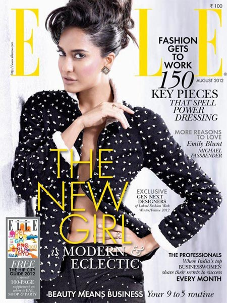 Lisa Haydon on Elle Cover