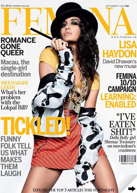 Lisa Haydon on Femina