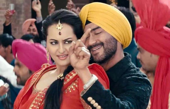 Sonakshi Sinha and Ajay Devgn in Son Of Sardaar