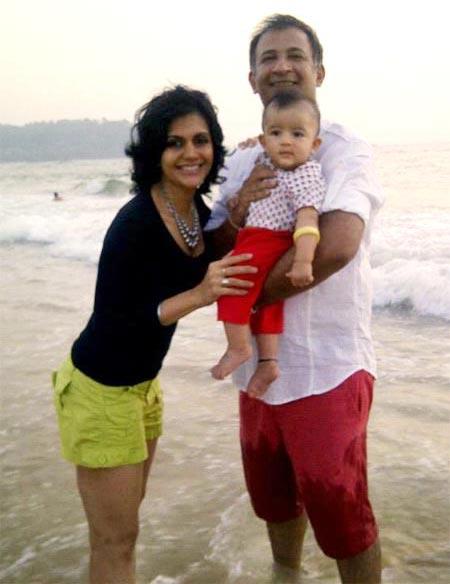 Mandira Bedi, Raj Kaushal with son Vir