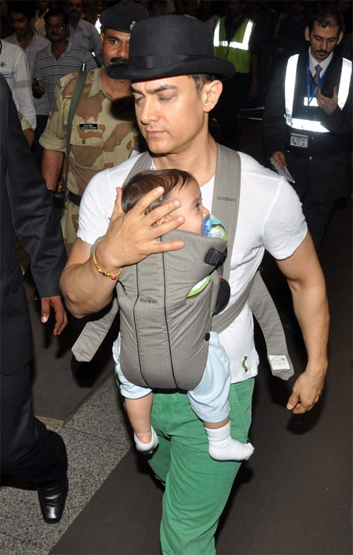 Aamir Khan with son Azad Rao Khan
